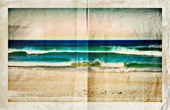 Beach with waves stock illustration