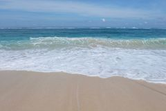 Beach Waves. In Bali Indonesia royalty free stock photography