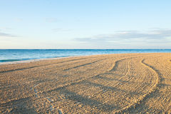 Beach waves and blue sky Stock Images