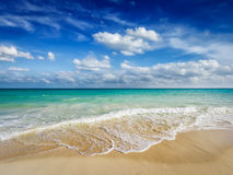 Beach and waves of Caribbean Sea Stock Photography
