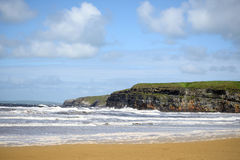 Beach waves and cliffs on the wild atlantic way Stock Photos