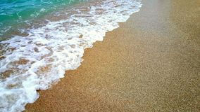 Beach & waves. Fantastically beautiful golden beach with waves Stock Photography