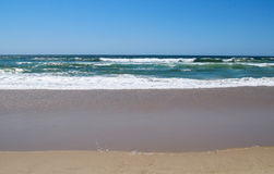 Beach and waves. Manhattan Beach, El Porto stock photography