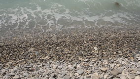Beach waves most beautiful pebble stock video footage