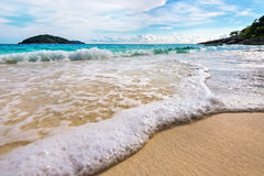 Beach and waves at Similan National Park in Thailand Royalty Free Stock Photos