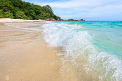 Beach and waves at Similan National Park in Thailand Royalty Free Stock Photo