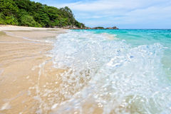Beach and waves at Similan National Park in Thailand Stock Photography