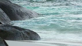 Beach waves. Turquoise sea water waves, Andaman Sea stock video footage