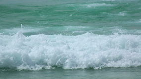 Beach waves. Turquoise sea water waves, Andaman Sea stock video