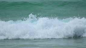Beach waves. Turquoise sea water waves, Andaman Sea stock footage