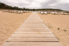 Beach way to Bassa beach in Ibiza Royalty Free Stock Image