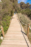 Beach way to Saona beach in Formentera Stock Photo