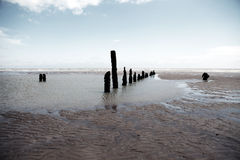 Beach weather coast winchelsea england Stock Image