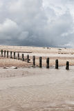 Beach weather coast winchelsea england Royalty Free Stock Photo