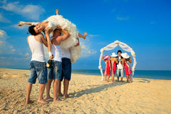 Beach wedding Stock Images