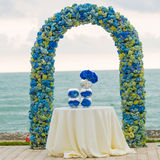 Beach wedding arch Stock Photography