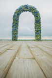 Beach wedding arch Royalty Free Stock Image