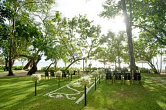 Beach Wedding. Beautiful of beach Wedding decoration royalty free stock photo