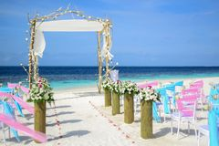 Beach, Wedding, Blue Royalty Free Stock Image
