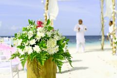 Beach, Wedding, Bouquet Royalty Free Stock Photo