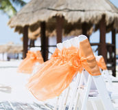 Beach Wedding in Cancun, Mexico Stock Photo
