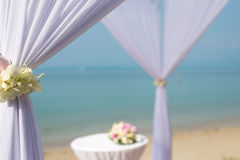 Beach wedding canopy Royalty Free Stock Image