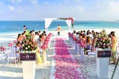 Beach Wedding Ceremony during Daytime Stock Photo
