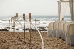 Beach wedding ceremony. Preparation for Beach wedding ceremony Stock Image