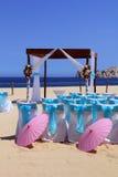 Beach wedding. Ceremony set up in Cabo San Lucas, Mexico royalty free stock photos
