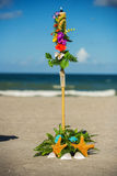 Beach Wedding Ceremony set up Stock Photo