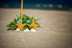 Beach Wedding Ceremony set up Royalty Free Stock Images