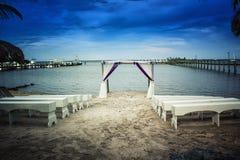 Beach Wedding Ceremony set up Royalty Free Stock Photo