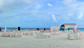 Beach, Wedding, Chairs Royalty Free Stock Image