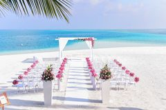 Beach, Wedding, Chairs Stock Photography