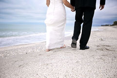 Beach wedding couple Royalty Free Stock Photo