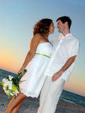 Beach wedding couple Stock Photography