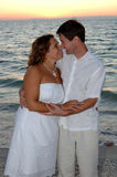 Beach wedding couple Royalty Free Stock Photography