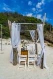 Beach Wedding Curacao Views Stock Photography