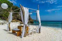 Beach Wedding Curacao Views Stock Photo