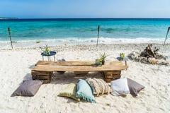 Beach Wedding Curacao Views Stock Images
