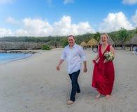 Beach wedding at Daaibooi Stock Images