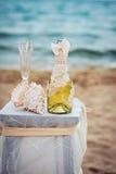 Beach Wedding Details Stock Image