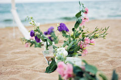 Beach Wedding Details Royalty Free Stock Images