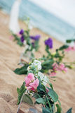 Beach Wedding Details Stock Photography