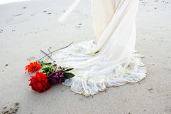 Beach Wedding dress Royalty Free Stock Image