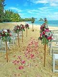 Beach Wedding in Hawaii Stock Photo