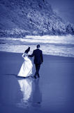 Beach Wedding I. Newlywed couple on a beach, Victor Harbor, South Australia Royalty Free Stock Image