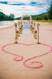 Beach Wedding. Nice decoration with orchids Stock Image