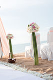 Beach Wedding Setup Stock Photography