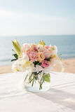 Beach Wedding Setup Stock Images